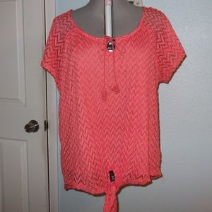 French Laundry Plus Size 2X Blouse Top Shirt Pink